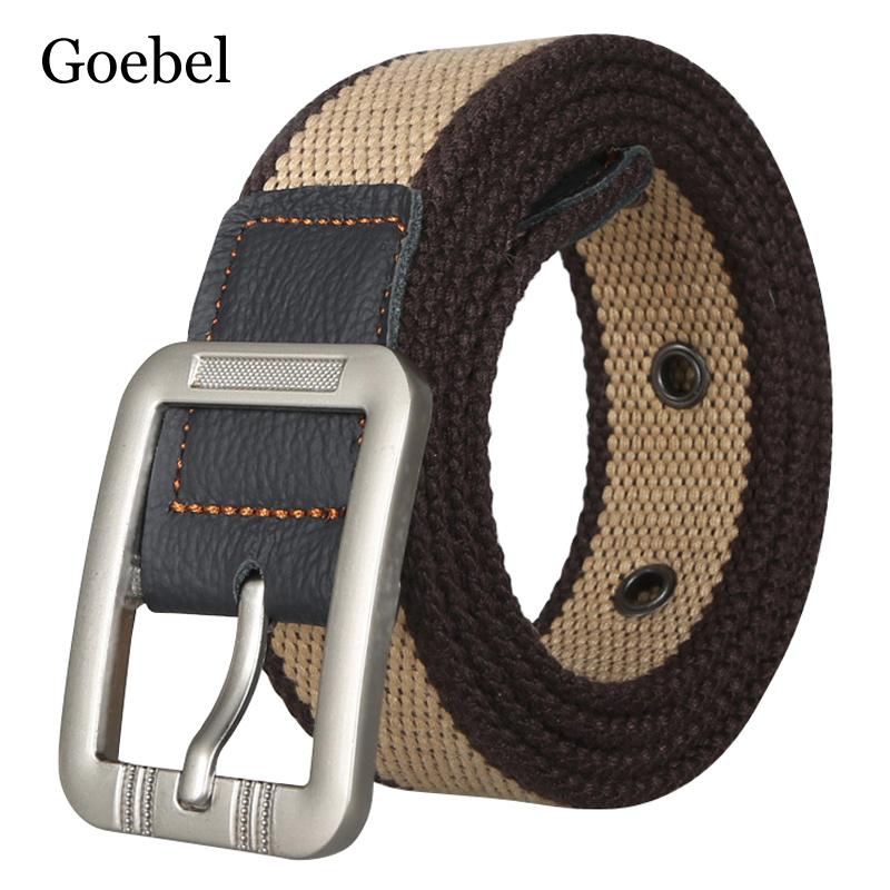 [해외]Goebel 캔버스 벨트 남자에 대 한 캐주얼 핀 버클 남자 패션 벨트 실용적인 남성 벨트 Unisex/Goebel Canvas Belts For Man Casual Pin Buckle Men Fashion Belts Practical  Male Belts Un