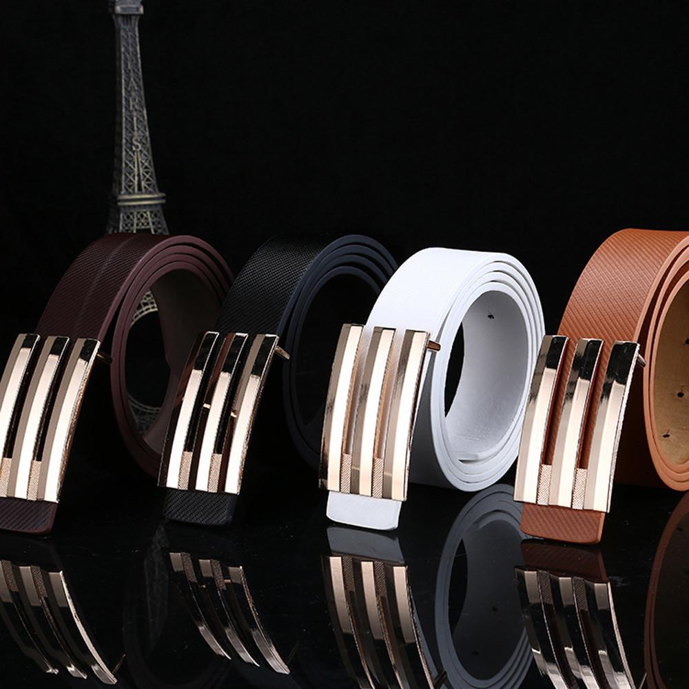 [해외]남자 벨트 여성 자동 버클 가죽 허리 버클 벨트 스트랩 벨트 cinturon hombre 가죽 벨트 남자/Men Belt Women Automatic Buckle Leather Waist Buckle Belt Strap Belts cinturon hombre l