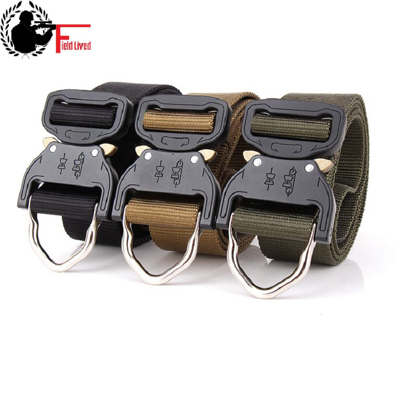 [해외]전술 벨트 벨트 중장비 전투 중장비 군인 장비 육군 장교 벨트 훈련 나일론 허리띠 금속/TACTICAL BELT SWAT Combat Heavy Duty Knock Off Men US Soldier Military Equipment Army Gear Belt T