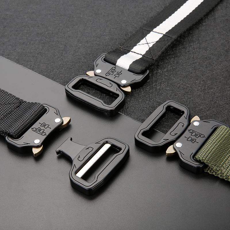 [해외]2018 남성용 캔버스 벨트 메탈 인서트 버클 밀리터리 나일론 훈련 용 벨트 육군 전술용 벨트 등산 및 아웃 도어 및 스포츠 쿨 인투론/2018 Men&s canvas belt Metal insert buckle Military nylon Training bel