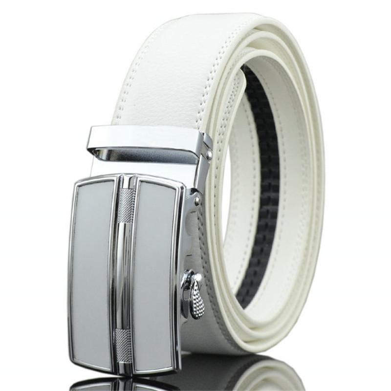 [해외]LannyQveen 유행 백색 벨트 가죽 남자 & s 자동 버클 벨트 암소 남자 0257를벨트/LannyQveen fashion white belt Leather Men&s Automatic buckle belts wholesale cow Belt for