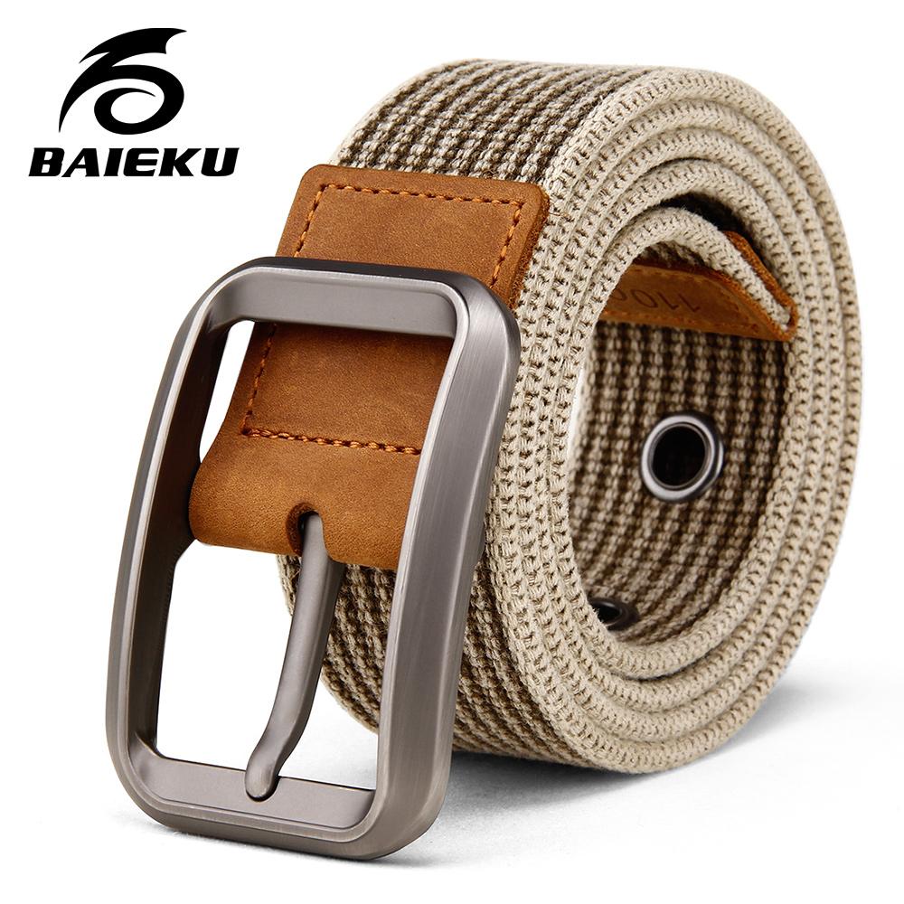 [해외]BAIEKU 캐주얼 패션 남성 & 코튼 벨트 심플 핀 버클 벨트 2018 신품/BAIEKU Casual fashion men&s cotton belt Simple pin buckle belt 2018 new products