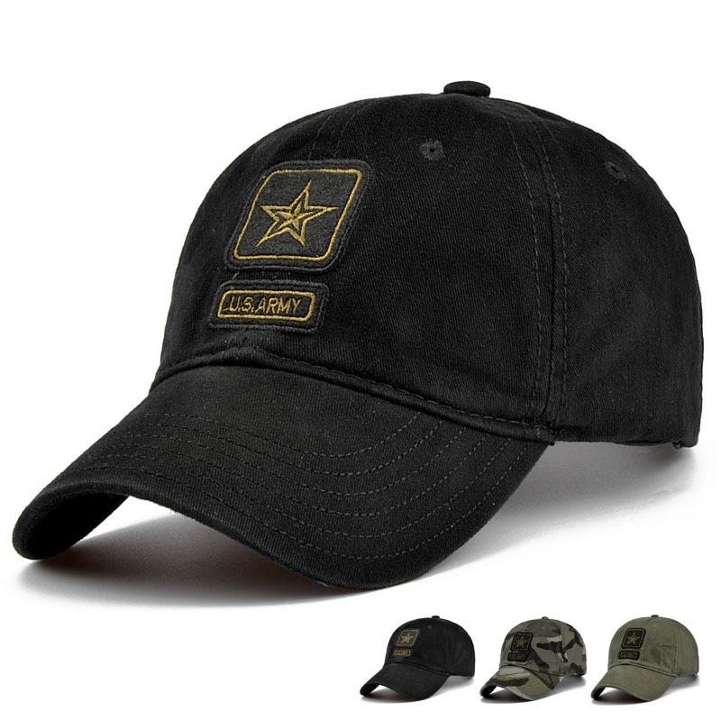 [해외]새로운 남성 오각형 모자 최고 품질 미국 육군 모자 남자 & 사냥 낚시 모자 야외 카 모 야구 모자 조정 가능한/New Men Pentagram Cap Top Quality U.S. Army Caps Men&s Hunting Fishing Hat Outd