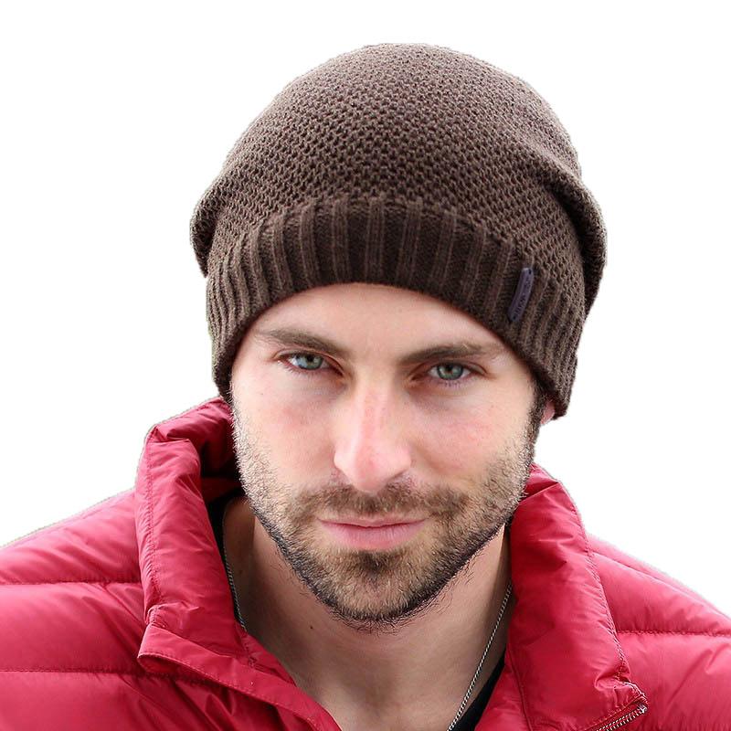 [해외]남성 모자 눈에 대한 2016 년 가을 겨울 모자 니트 Skullies 비니 모자 솔리드 Gorros 힙합 비니 6 색 모자/2016 Autumn Winter Hats Knitted Skullies Beanie Hat Solid Gorros Hip Hop Bea