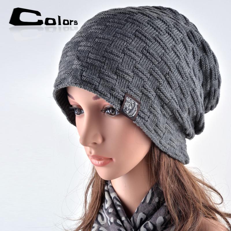 [해외]브랜드 남성 여성 가을과 겨울 모자 착용 보닛 두꺼운 따뜻한 모자 니트 모자 남성과 여성 야외 스키 비니 모자 헤징/Brand Male Female Autumn And Winter Hats Worn Bonnet  Thick Warm Cap Knitted Caps