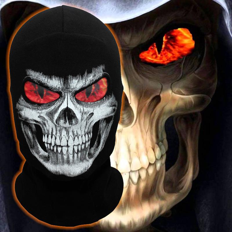 [해외]그림 하퍼 마스크 불꽃 눈 해골 겨울 Balaclava 유령 따뜻한 스포츠 오토바이 사이클링 스키 할로윈 전체 얼굴 마스크/Grim Reaper Mask Flame Eyes Skeleton Skull Winter Balaclava Ghost Warmer Spor