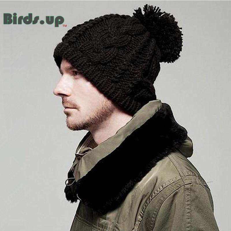 [해외]남성 여성 니트 양모 Beanies HatsFur Pompons 겨울 따뜻한 모자 야외 모자 skullies 스포츠 힙합 뚜껑/Men Women Knitted Wool Beanies HatsFur Pompons Winter Warm Hat Outdoor Cap