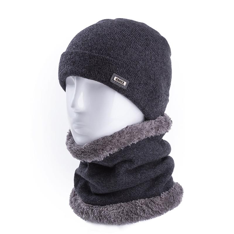 [해외]2Pcs / Set 남자 100 % 소프트 양모 따뜻한 겨울 모자 & amp; 남자와 여자를반지 스카프 캐시미어 비니 모자 & 스카프 솔리드 니트 모자/2Pcs/Set Men 100% Soft Wool Warm Winter Hats & Ri