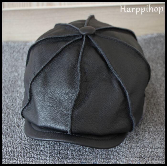 [해외]Harppihop 모피 L-002 진짜 진짜 암소 가죽 모자 모자 모자 류 Cattlehide Cowhide 따뜻한 겨울 8 코너 모자/Harppihop Fur  L-002 Real Genuine Cow Leather Hat Cap Headwear  Cattle