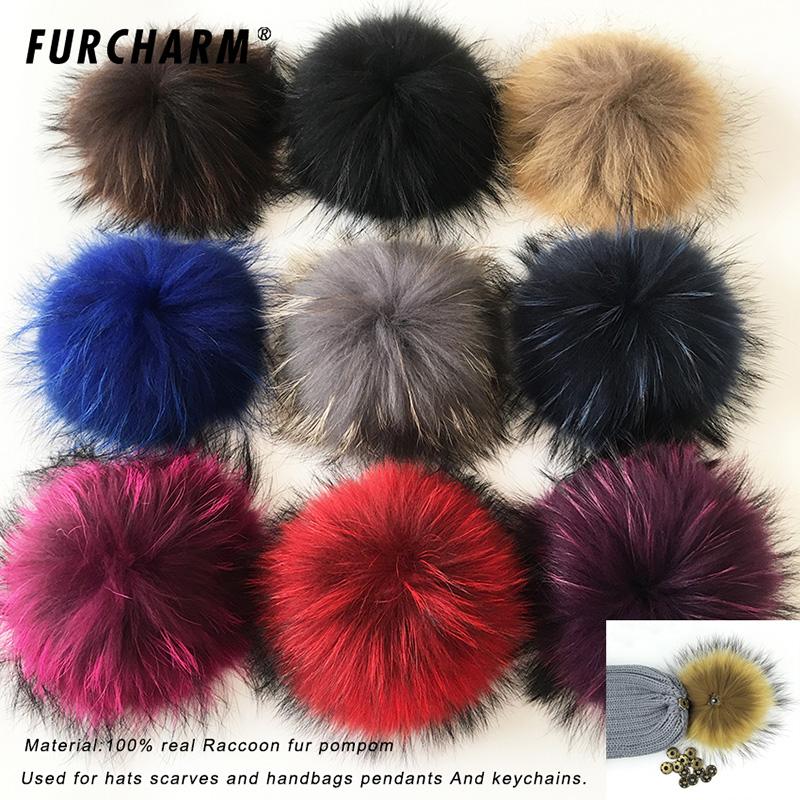 [해외]2017 여러 가지 빛깔의 100 % 진짜 너구리 밍크 폭스 모피 20cm 모피 퐁퐁 겨울 큰 Pom Poms 신발 가방 모자 모피 모자 액세서리/2017 Multicolor 100% Real Raccoon Mink Fox Fur Ball  20cm Fur Po