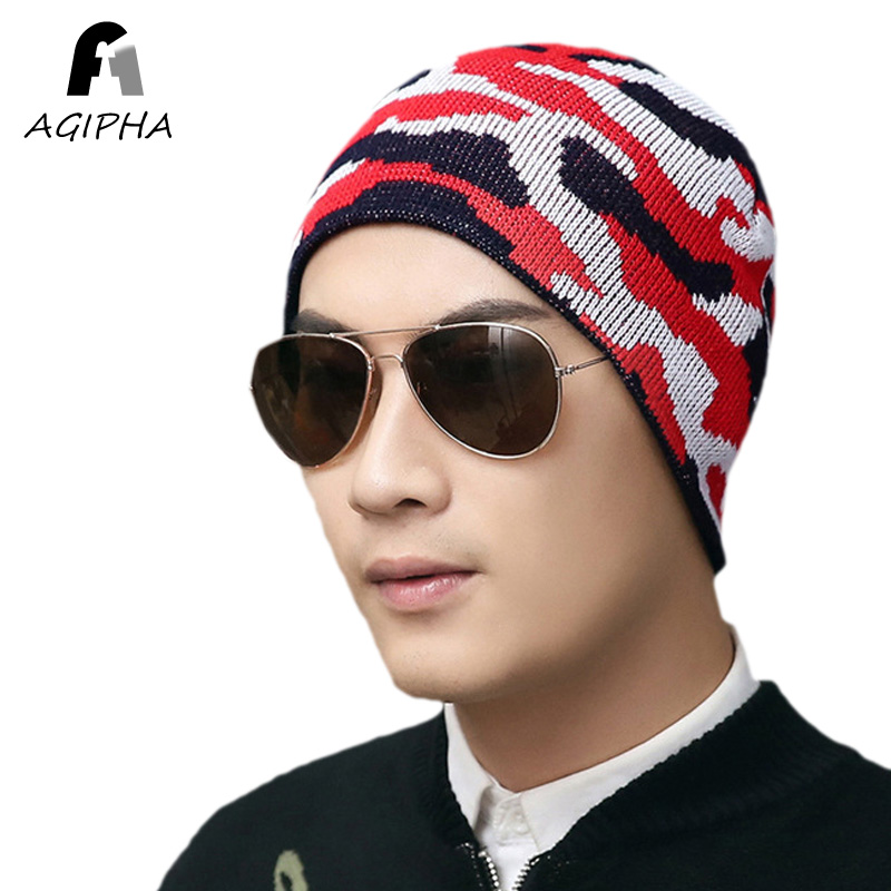 [해외]브랜드 새로운 육군 위장 무늬 니트 Skullies 비니 모자 여성 남성 가을 겨울 편직 모자 유형 NN02/Brand New Army Camouflage Pattern Knitted Skullies Beanie Hats For Women Men Autumn W