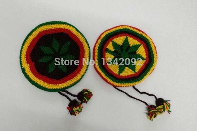 [해외]NEW 패션 유니 레스타 레게 자메이카 Gorro Slouchy 수제 크로 셰 뜨개질 아크릴 비니 모자 자메이카 CapSmall 공/NEW Fashion UniRasta Reggae Jamaican Gorro Slouchy Handmade Crochet Knit