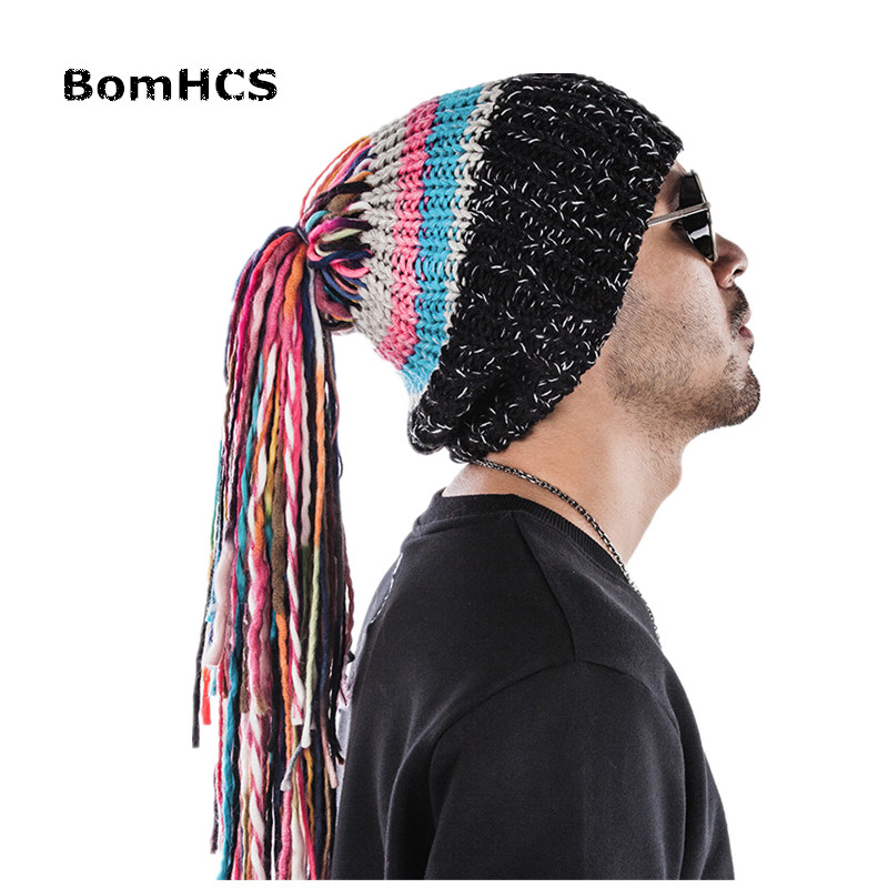 [해외]BomHCS 멋진 선물 거리 패션 수제 니트 모자 남성과 겨울 따뜻한 모자/BomHCS Cool Gift Street Fashion Handmade Knitted Hat Men&s Winter Warm Cap