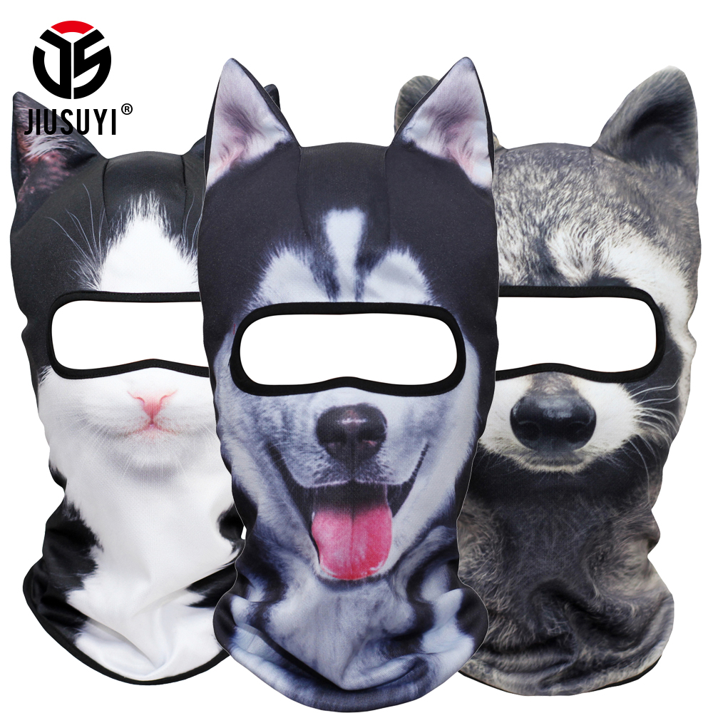 [해외]3D 동물 귀 Balaclava 목 얼굴 마스크 할로윈 의상 파티 고양이 개 폭스 팬더 허스키 풀 페이스 겨울 겨울 헬멧 라이너/3D Animal Ear Balaclava Neck Face Mask Halloween Costume Party Cat Dog Fox