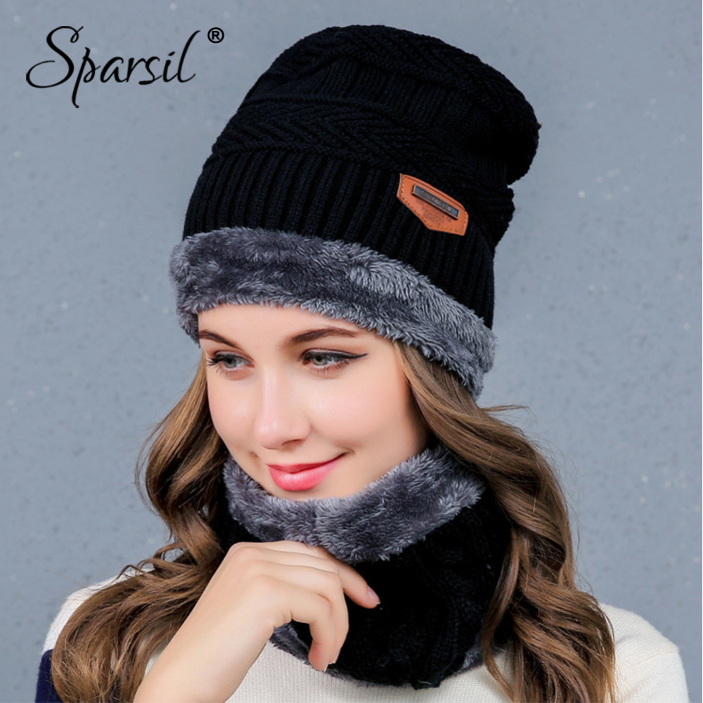 [해외]Sparsil 여자 남자 겨울 울 모자 니트 따뜻하게 UniKnitted 스카프 Skullies 세트 단색 따뜻한 양털 Beanies 스카프 열 칼라/Sparsil Women Men Winter Wool Hat Neck Warmer UniKnitted Scarf