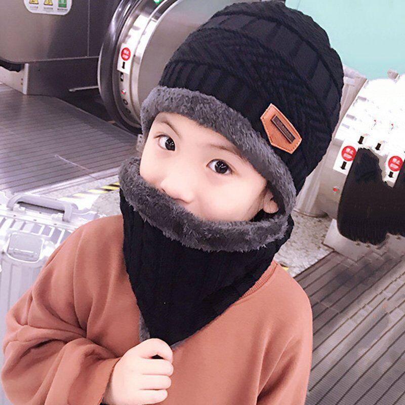 [해외]?2018 child 2pcs 겨울 Balaclava Beanies 2-12 세 소녀와 소년 학생들을니트 모자와 스카프 모자 모자 스키 모자 모자/ 2018 child 2pcs Winter Balaclava Beanies Knitted Hat and scarf