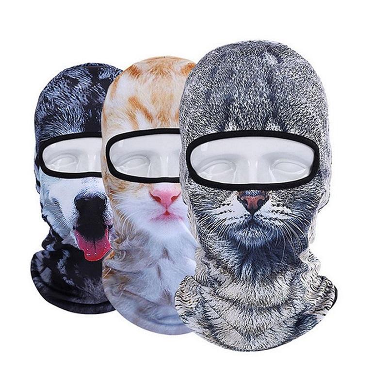 [해외]3D 동물 고양이 개 Balaclava 자전거 자전거 모자 스노우 보드 파티 할로윈 헬멧 라이너 겨울 따뜻하게 전체 얼굴 마스크 모자/3D Animal Cat Dog Balaclava Bicycle Bike Hats Snowboard Party Halloween