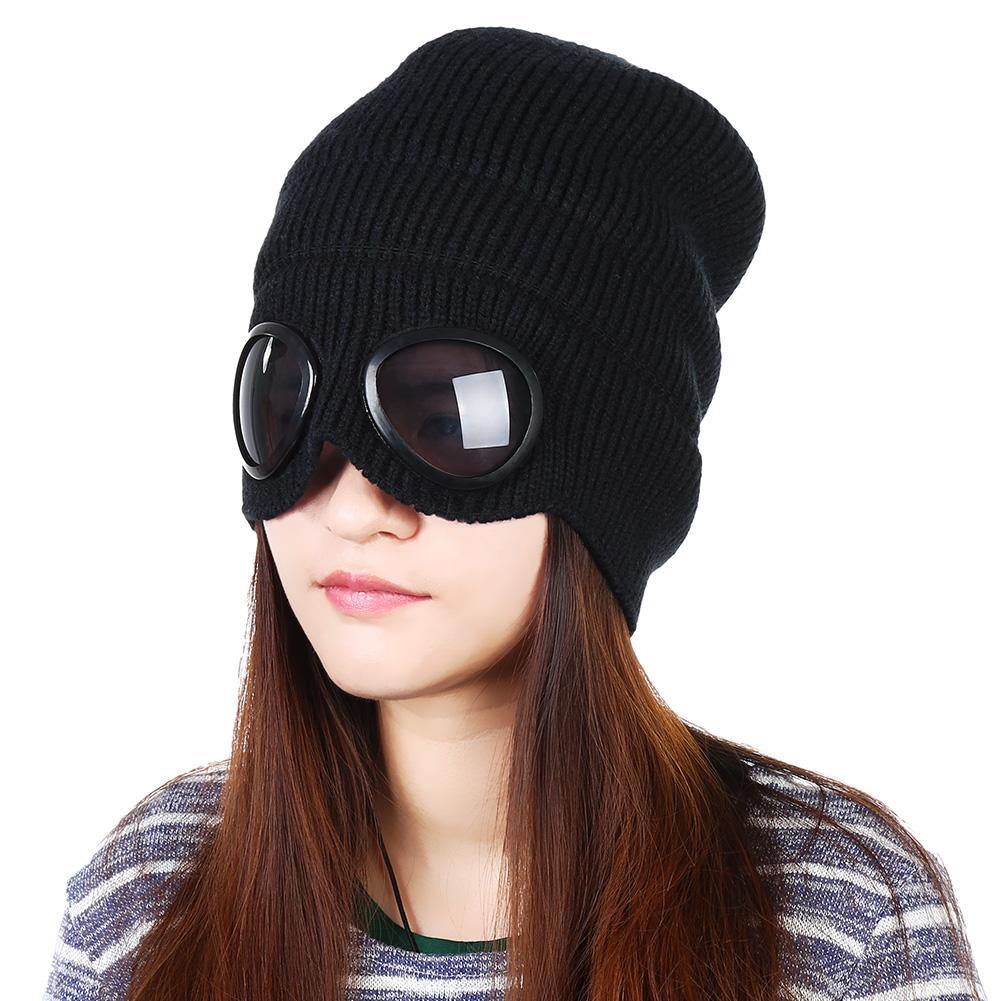 [해외]VBIGER 더블 사용 두꺼운 겨울 니트 모자 따뜻한 Beanies Skullies 스키 Cap 남성 여성을CapRemovable 안경/VBIGER Double-use Thickened Winter Knitted Hat Warm Beanies Skullies S