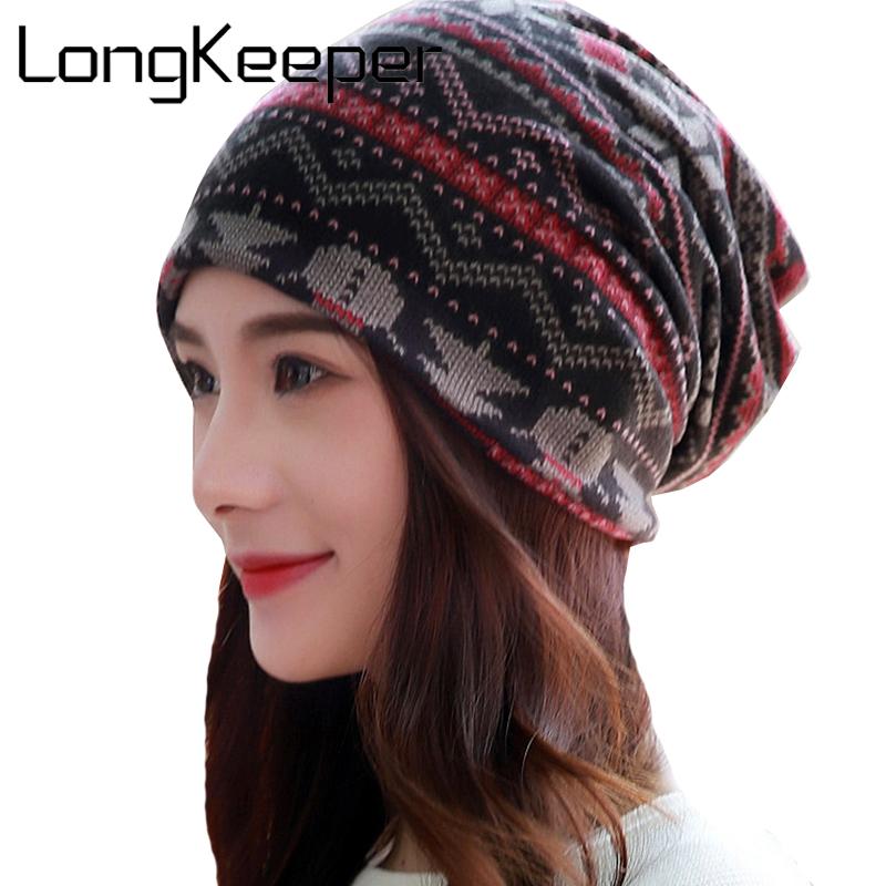 [해외]롱 키퍼 새로운 패션 프린트 모자 캐주얼 스타일 모자 우아한 봄, 가을 빈티지 Skullies 여성용 Beanies Hemets/LongKeeper New Fashion Print Hats Casual Style Cap Elegant Spring and Autu