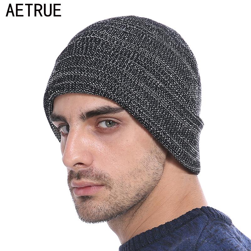 [해외]AETRUE Beanies 니트 모자 남성용 겨울 모자 남성용 여성 패션 Skullies Beaines Bonnet Brand Mask 캐주얼 소프트 니트 모자 모자/AETRUE Beanies Knitted Hat Men Winter Hats For Men Wo