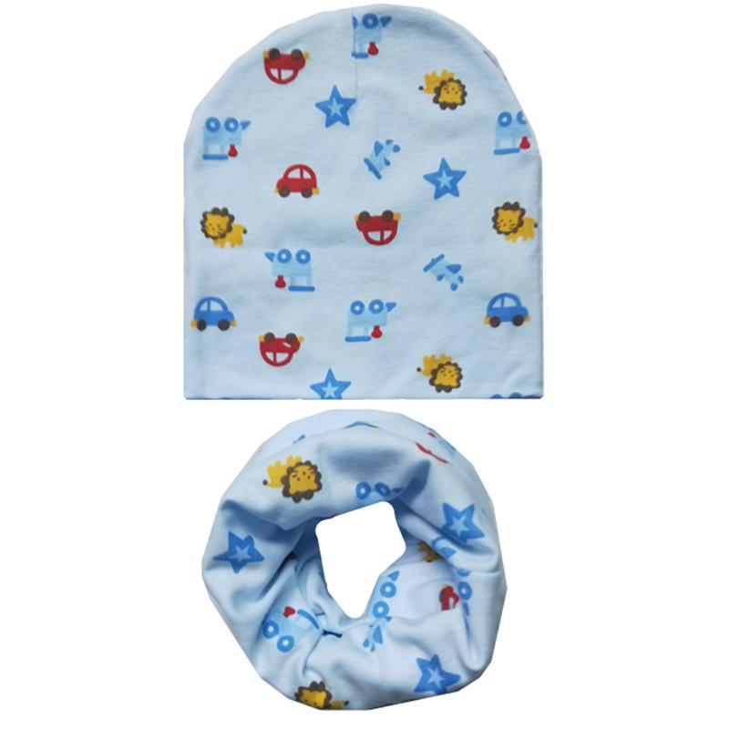 [해외]봄 가을 코튼 아기 모자 스카프 세트 만화 어린이 모자 겨울 소녀 소년 따뜻한 모자 목 스카프 칼라 키즈 Beanies 모자 세트/Spring Autumn Cotton Baby Hat Scarf Set Cartoon Children Hats Winter Girl