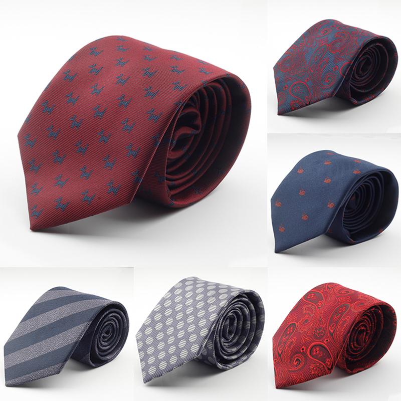[해외]새로운 디자인 브랜드 남성 넥타이 실크 자카드 7cm corbatas 남성들 2016 Gravata 클래식 패션 비즈니스 넥타이 아저씨 도트 넥타이를 짜/New Design Brand Mens Ties silk jacquard weave Dot Necktie 7