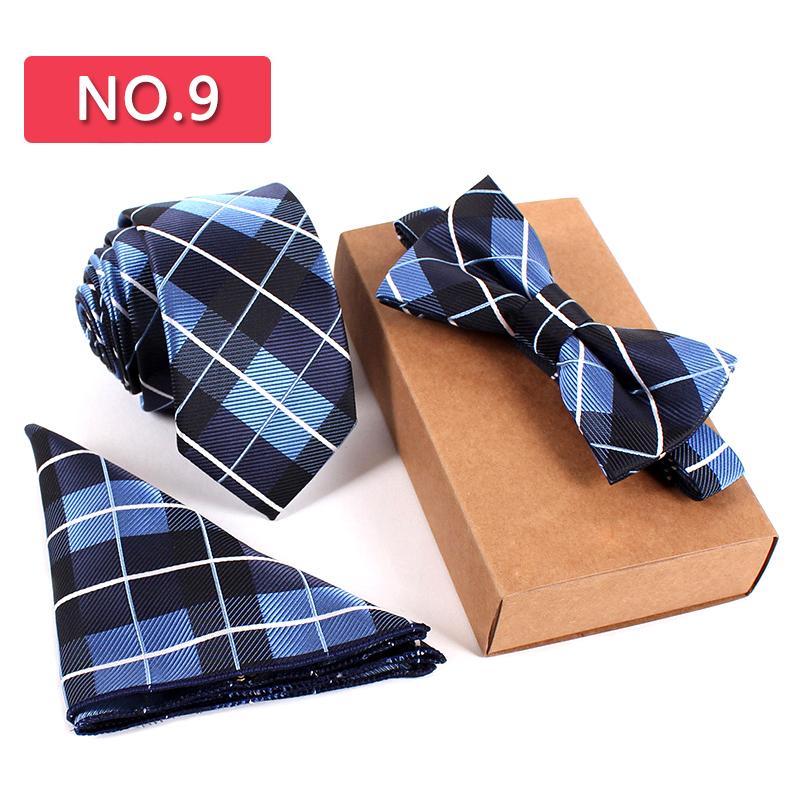 [해외]3 PCS 슬림 타이 세트 남자 보우 타이 손수건 Bowtie Homme 넥타이 Cravate Noeud Papillon Man Corbatas Hombre Pajarita/3 PCS Slim Tie Set Men Bow Tie Handkerchief Bowti