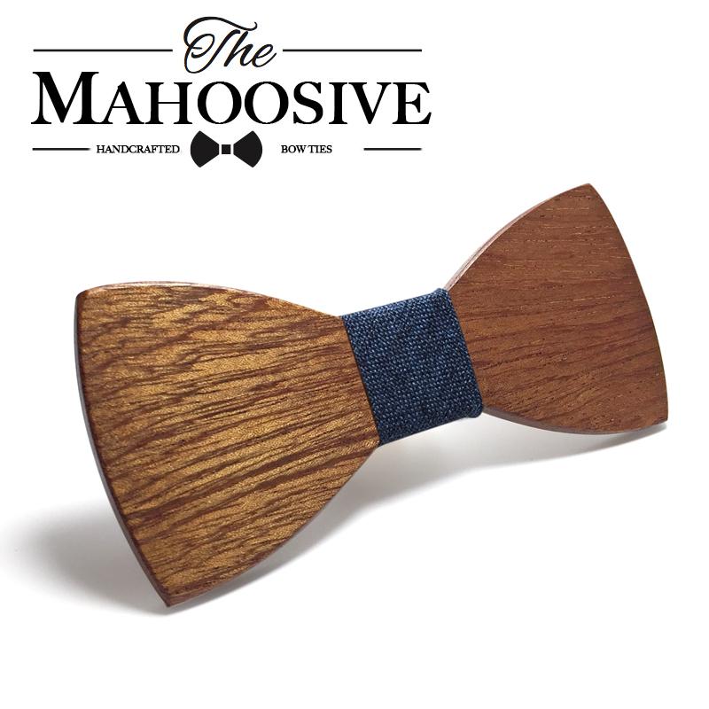[해외]Mahuosive 나무 활 타이 남성 나무 활 관계 Gravatas Corbatas 비즈니스 나비 넥타이 남성 넥타이 나무 넥타이/Mahoosive Wood Bow Tie Mens Wooden Bow Ties Gravatas Corbatas Business Bu