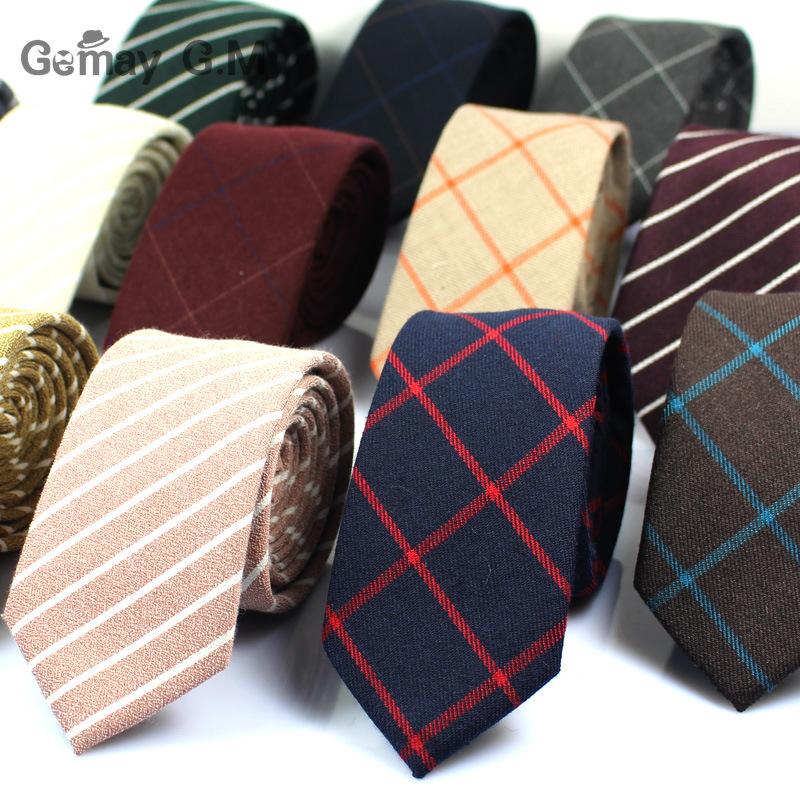 [해외]2017 클래식 100 % 코 튼 망 넥타이 새로운 디자인 남성에 대 한 좁은 넥타이 6cm 슬림 격자 무늬 관계 공식 비즈니스 결혼식 파티 Gravatas/2017 Classic 100% Cotton Mens Ties New Design Narrow Neckt