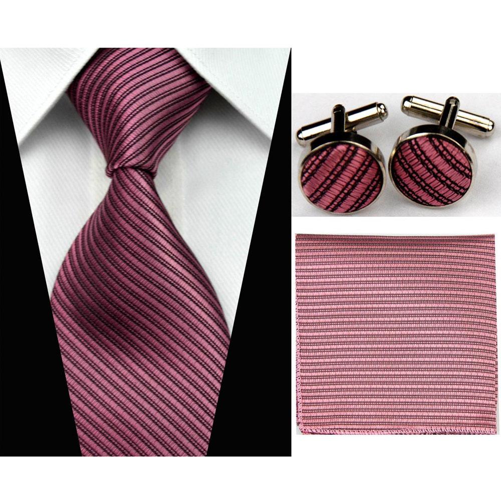 [해외]3 & / 7.5cm 실크 넥타이 세트 남성 액세서리 단색 스트라이프 슬림 비즈니스 Hanky ??Handkerchief 커프스 단추 넥타이 남성용 Gravatas/3&/7.5cm Silk Tie Sets Mens Accessories Solid Stri