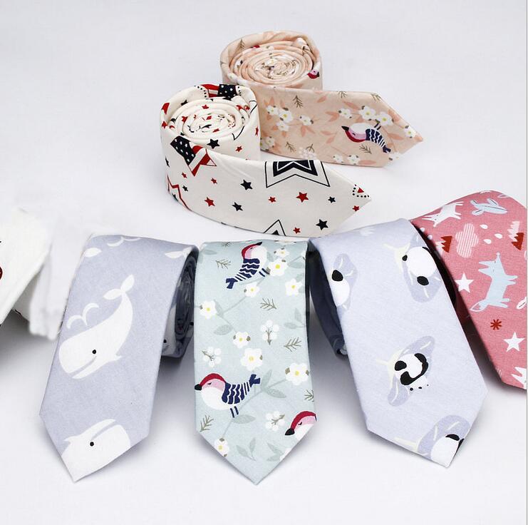 [해외]남성을gtglad 넥타이 캐주얼 만화 개 새 돌고래 패턴 넥타이 넥타이 코 튼 6cm 슬림 꽃 넥타이 넥타이 액세서리/gtglad Tie for Men Casual Cartoon dog bird dolphin Pattern Tie Necktie Cotton 6c