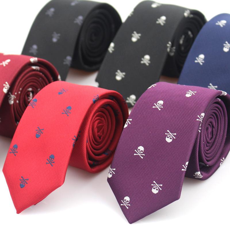 [해외]남자를새로운 캐주얼 슬림 해골 관계 클래식 폴리 에스터 넥타이 패션 맨 넥타이 웨딩 파티 남성 넥타이 Neckwear/New Casual Slim Skull Ties For Men Classic Polyester Neckties Fashion Man Tie fo