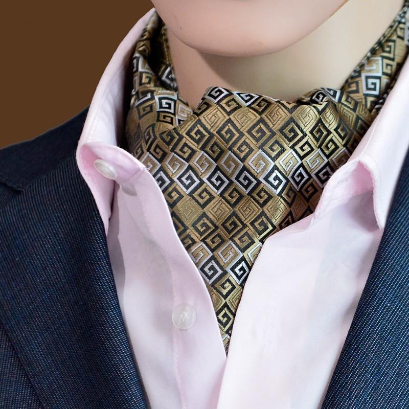 [해외]클래식 망 네커드 줄무늬 점 Ascot 넥타이 Cravat 남자 목 넥타이 자카드 자기 넥타이 웨딩 파티 신랑/Classic Mans Neckwear Striped Dots Ascot Tie Cravat Men Neck Tie Jacquard Self Tie F