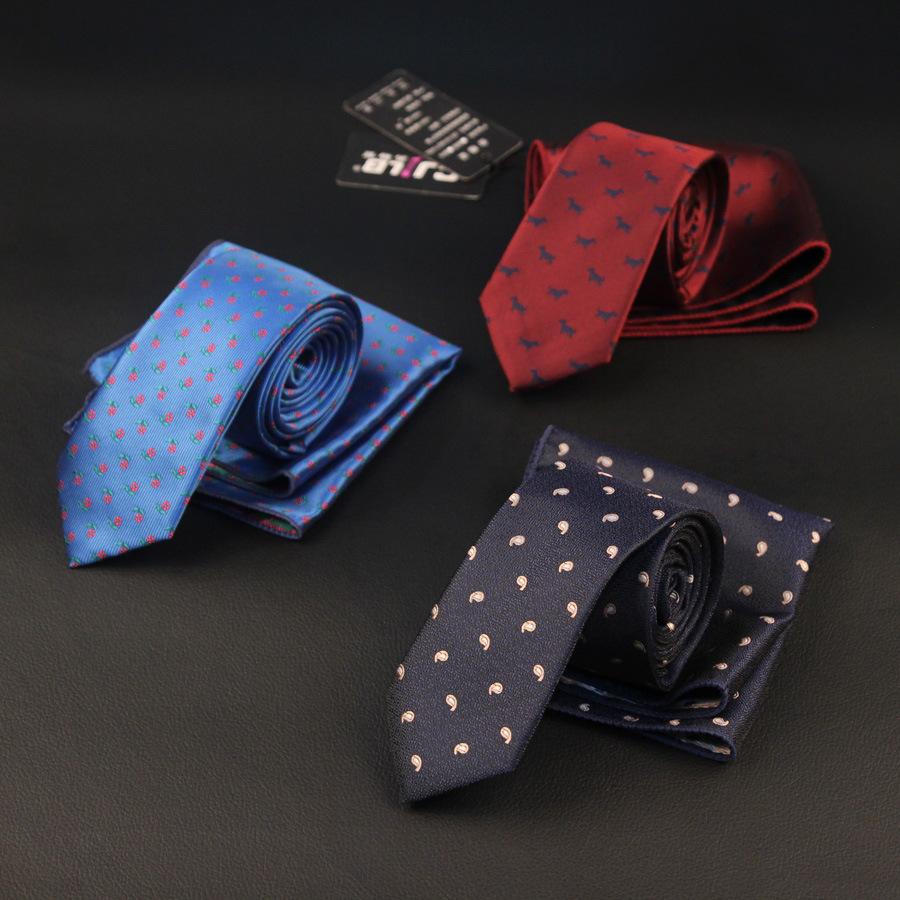 [해외]27colors 남자 폴리 에스터 실크 슬림 넥타이 6cm + 주머니 정사각형 손수건 세트 패션 디자이너 웨딩 세트 100sets / lot/27colors Men polyester silk slim neck ties  6 cm+ pocket square han