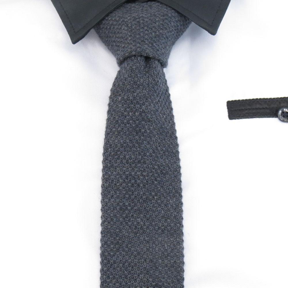 [해외]남성용 모직 넥타이 블랙 그레이 넥타이 5cm 솔리드 슬림 니트 넥타이 남성용 레저 fasion 파티 용품 평면 Gravata/Wool ties for men black grey Necktie 5cm Solid Slim knitted Ties For Men&s