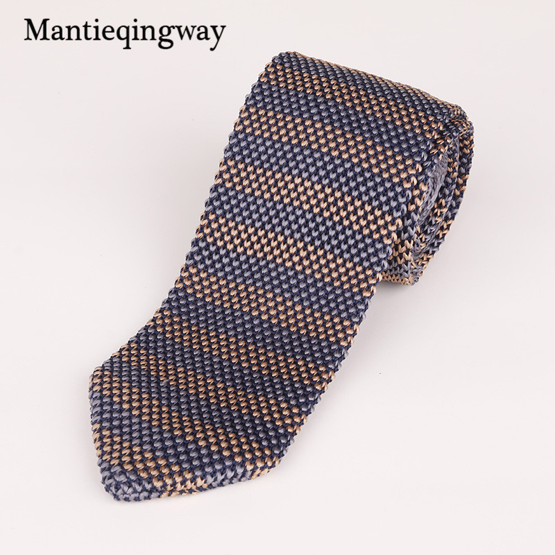[해외]Mantieqingway 패션 스키니 망 넥타이 넥타이 클래식 스트라이프 뜨개질 넥타이 남성 캐주얼 비즈니스 6cm 넥타이 남자 결혼식/Mantieqingway Fashion Skinny Mens Tie Knit Necktie Classic Striped Kni