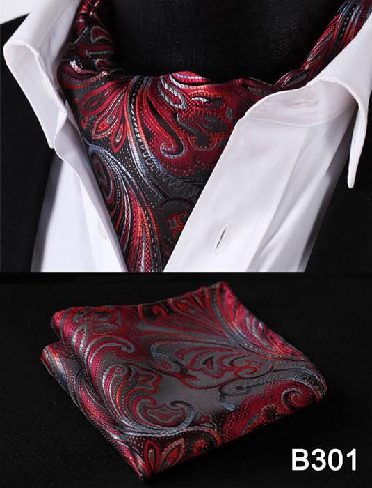 [해외]페이즐리 플로랄 남성 실크 넥타이 턱시도 넥타이 손수건 세트 B3 파티 클래식 포켓 스퀘어 웨딩/Paisley Floral Men Silk Cravat Ascot Tie Handkerchief Set B3 Party Classic Pocket Square Wed