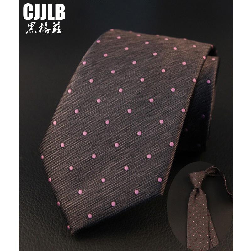 [해외]다크 그레이 넥타이 핑크 닷 새로운 7cm 남자 넥타이 넥타이 폴카 도트 넥타이 스키니 실크 남자 넥타이 웨딩 파티 넥타이/Dark Gray Neck Tie Pink Dots New 7cm Mens Ties For Men Neckwear Polka Dot Men
