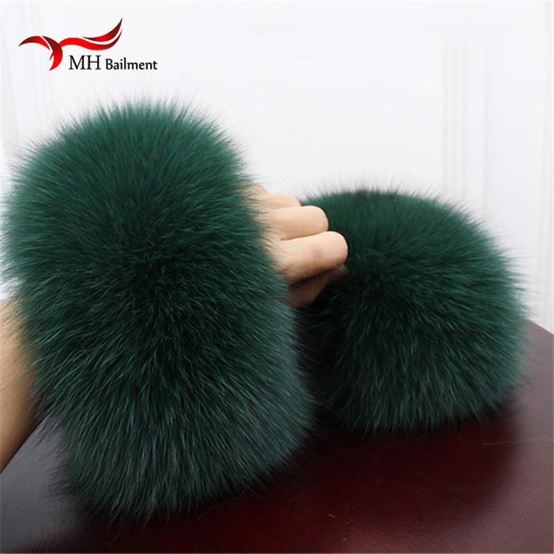 [해외]?폭스 모피 커프스 손목 온열 장치  폭스 모피 커프 암 따뜻하게 레이디 팔찌 리얼 모피 손목 밴드 장갑 X1/ Fox fur Cuffs  Wrist Warmer Genuine Fox Fur Cuff Arm Warmer Lady Bracelet Real Fur