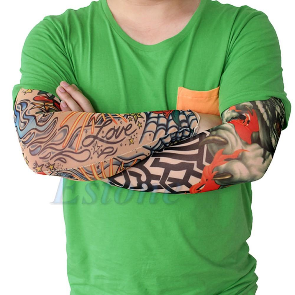 [해외]Lot 6 PC UniWomen Men 가짜 임시 파티 현실적인 문신 슬립 문신 암 커버 슬리브 커버/Lot 6 Pcs UniWomen Men Fake Temporary Party Realistic Tatoo Slip On Tattoo Arm Covers Sle