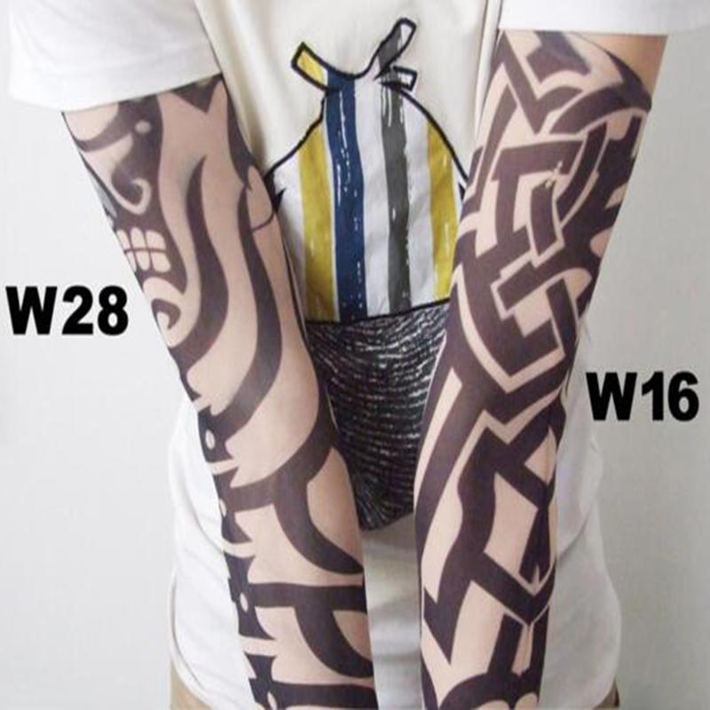 [해외]락 6pcs / Lot 무작위 컬러 남자 문신 슬리브 키트 탄성 나일론 암 워머 가짜 문신 팔 슬리브 여성 UniAccessories 남성/Rock 6Pcs/Lot Random Color Men Tattoo Sleeves Kit Elastic Nylon Arm