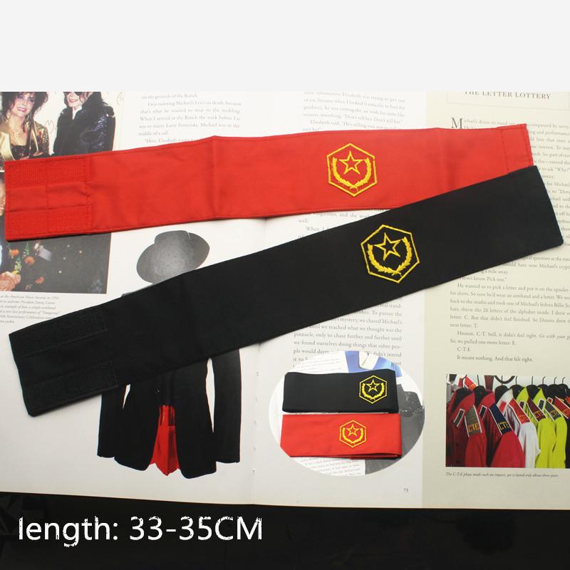 [해외]희귀 한 코스프레 마이클 잭슨 CTE 반전 자수 완장 1980 년대 평화를할로윈 파티 선물/Rare Cosplay MJ Michael Jackson CTE Anti War Embroidery Armband Brassard Halloween Party Gift F