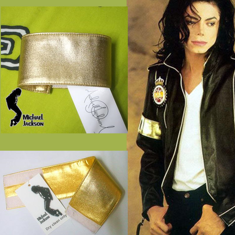 [해외]MJ 마이클 잭슨 클래식 골든 완장 Preformance 컬렉션/MJ Michael Jackson Classic Golden Armband For Preformance Collection