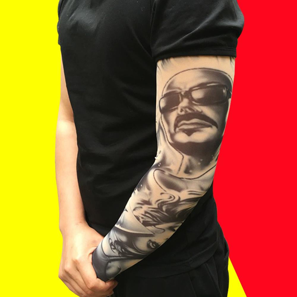 [해외]나일론 신축성 자외선 차단 팔 슬리브 통기성 해골 해골 커프 슬리브 싸이클링 하이킹 러닝 UV 보호용 팔찌 스타킹/Nylon Stretchy Sunscreen Arm Sleeves Breathable Skull Skeleton Cuff Sleeves Cyclin