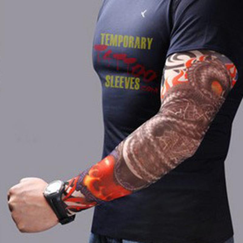 [해외]쿨 패션 남자 6Pcs / lot 남성 락 펑크 스타일 문신 팔 슬리브 키트 임시 슬리브 액세서리 UniWomen/Cool Fashion Men 6Pcs/Lot Men Rock Punk Style Temporary Fake Slip On Tattoo Arm Sl
