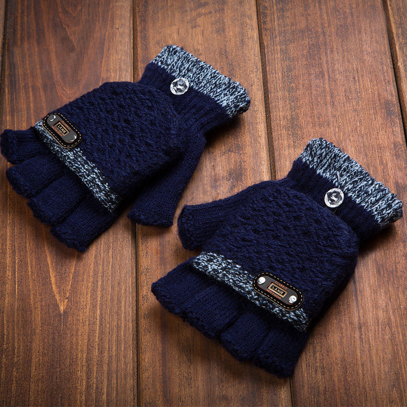 [해외]겨울 터치를절반 FingerCover UniWomen 및 남자 & s 니트 장갑/Half FingerCover UniWomen and Men&s Knit Mittens Gloves for Winter Touch