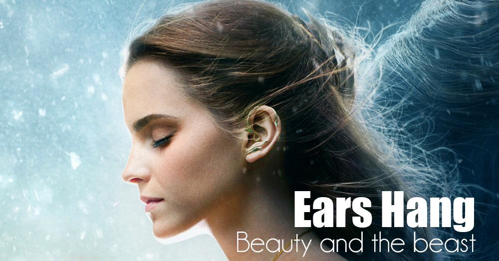 [해외]미녀와 야수 귀걸이 귀 커프 벨 코스프레 쥬얼리 로즈 스터드 귀걸이 동화 영화 VictorianGift/Beauty and the Beast Earrings Ear Cuff Belle Cosplay Jewelry Rose Stud Earrings Fairy Ta