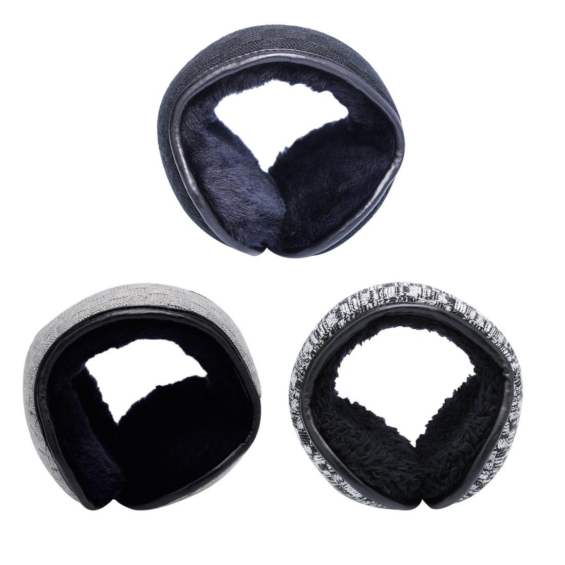 [해외]남성용 새로운 겨울 니트 귀고리 여성 접이식 귀머귀 귀고리 조절 식 따뜻한 인형 귀마개 귀고리 착용/New Winter Knitted Earmuffs For Men Women Foldable Ear Warmers Ear Bag Adjustable Warm Plu
