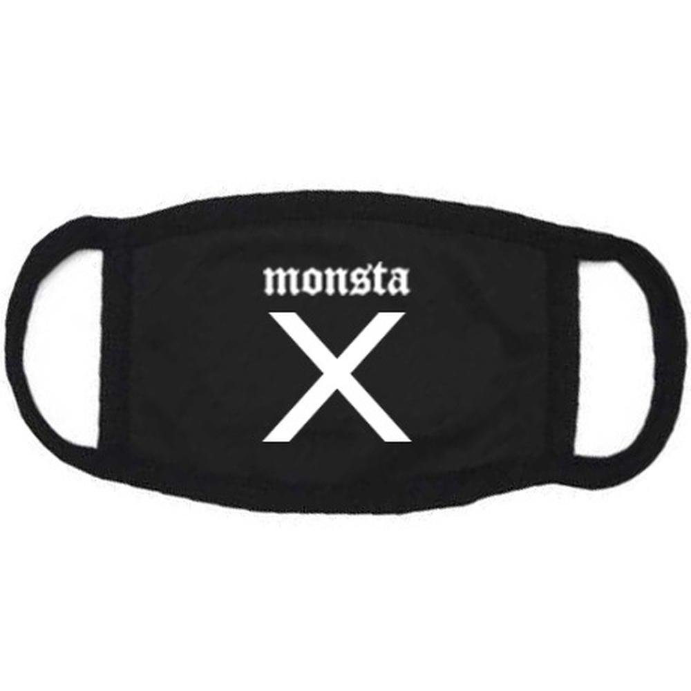 [해외]monsta x KPOP Cotton Masks 2018 새 남성과 여성 한국어 버전 검은 글자 인쇄용 방진 귀 가리개/monsta x KPOP Cotton Masks 2018 new men and women Korean version black Letter p