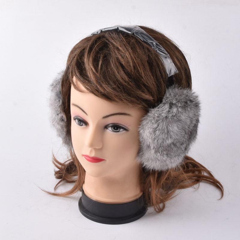 [해외]토끼 모피 귀마개 천연 모피 귀마개 UniEarmuffs 패션 겨울 따뜻한 귀마개/Rabbit Fur Earmuff Natural Fur Earlaps UniEarmuffs Fashion Winter Warm Soft Earmuffs